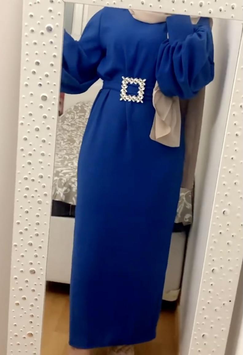 Abaya Sahra Nude Satinée - SB Designn